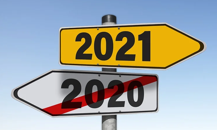 A street sign for 2021.